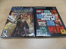 Grand Theft Auto III Black Label / Aragorn's Quest PS2 LOT NEW SEALED