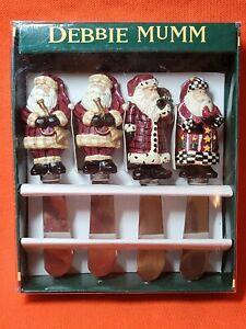Debbie Mumm Old World Santa Claus Cheese Jam Spreader Knives 3 Different Designs