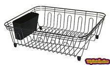 Black Nickel Dish Drainer - Dish Rack With Utensil Holder Made of Chrome