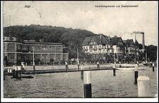 KIEL 1907 Partie Yacht Klub Yachtklub Gebäude Seebadeanstalt Verlag W. Jacobsen