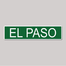 """El Paso City Pride - 4"""" x 17"""" Awesome Aluminum Street Sign"""