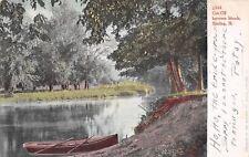 Sterling IL~Cut-Off Tween Rock River Islands 1907 UDB~Mr Orin Baker~Dunkirk NY