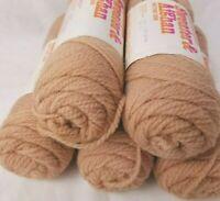 Columbia Minerva Orlon Acrylic Nantuk Sweater Afghan Knitting Yarn Light Brown