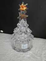 Evita Crystal CHRISTMAS TREE Candy Dish/Trinket  24% Lead Blekristal Crystal EUC
