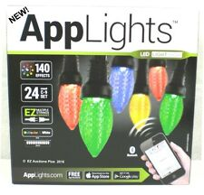 Gemmy AppLights 24-Light LED C9 Shape String Light Set   iPhone or Android