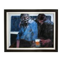 """""""Part of the Bar"""" by Aldo Luongo Original Framed Painting Oil on Canvas"""