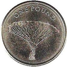 Gibraltar 1 pound 2016 Dragon Tree Dracaena (#3912)