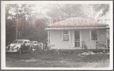 Vintage Car Photo 1936 Chrysler Airflow Automobile & House 693598