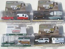 GREENLIGHT HITCH & TOW SERIES 4 SET DODGE CHEVY FORD & SHASTA AIRFLYTE TRAILER