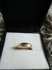 Mens White Gold Engagement Ring Size N stamped 375