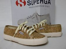Superga Size 5 M Shiny Cork Fashion Sneakers New Womens Shoes