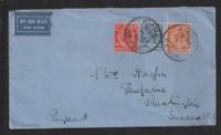 Kenya & Uganda 1932 KGV Airmail 65c cover Kiambu to UK WS13291