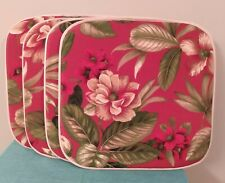 """Set of 4 New-Other 1""""Thick15"""" Wide Tropical Pattern, Patio Bench, Chair Seat Pad"""