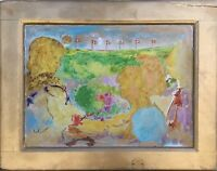 EYPRESSIV DÄNEMARK - FAMILIE - VISHOLM 1979 - PROCESSION - MODERN MIDCENTURY ART