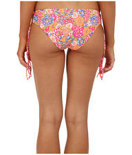 NWT $38   O'NEILL  SWIM   SMALL CITRUS FLORAL CINCH TIE   HIPSTER    BOTTOM
