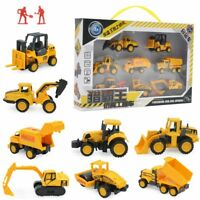 8PCS Kids Diecast Mini Construction Truck Car Toy Digger Excavator Birthday Gift