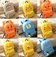 Pokemon Backpack Pikachu, Gengar, Squirtle, Eevee School Bag (Multiple Type) New