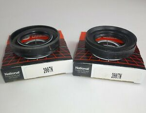(2) NEW GENUINE NATIONAL 2007N Auto Trans Output Shaft Seal Oil SET OF 2 (J7)