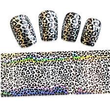 Transfairfolie Nail Art, Zauberfolie Leoparden Muster Streifen  50 cm x 4 cm