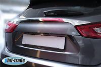 Nissan Qashqai J11 ab 2013 Chrom Heck Kofferraum Leiste Edelstahl glanz