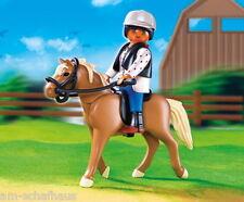 Playmobil - Sammelpferde, Haflinger mit grün-beiger Pferdebox, 5109