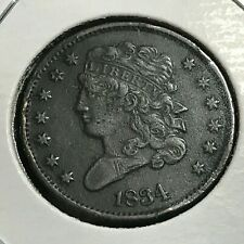 1834 CLASSIC HEAD HALF CENT BETTER COIN