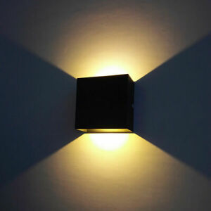 6/12W Modern Cube LED Wall Lamp Indoor Outdoor Up Down Sconce Light Home Decor