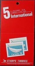 Canada 1990 $3.90 (5 x 78 C + etichetta) BALENA BIANCA FRANCOBOLLI LIBRETTO. Gomma integra, non linguellato.