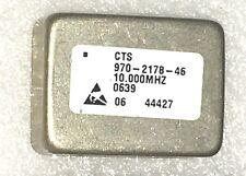 Cts 970 2187 46 Ocxo 10mhz Oven Controlled Crystal Oscillator 5v Sinewave Efc