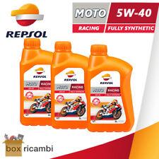 3 LITRI OLIO MOTORE 4T REPSOL RACING 5W40 100% SINTETICO ( MASSIME PRESTAZIONI )