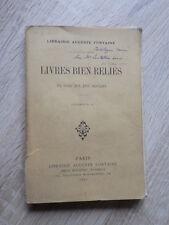 CATALOGUE DE LIVRES BIEN RELIES Librairie Auguste Fontaine POUR 1896