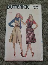 Pattern BUTTERICK Sewing 3386 Misses Sizes 12 New Uncut JUMPER