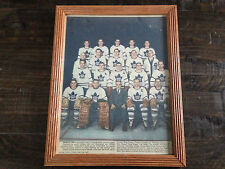 1955 TORONTO STAR WEEKLY TORONTO MAPLE LEAFS TEAM PHOTO IN FRAME 11X14