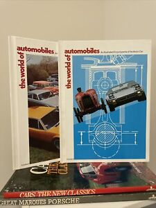 Vintage Lot of 4 The World of Automobiles, Porsche, Cars The New Classics Books