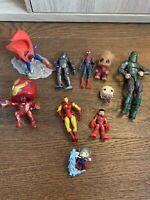 JOBLOT OF ACTION FIGURES MARVEL DC HULK SUPERMAN IRONMAN EX COND Lego Funk Pop