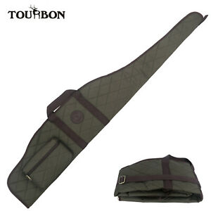 Tourbon Gun Slip Scope Rifle Bag Soft Case with Zipper Pocket Tactical Hunting