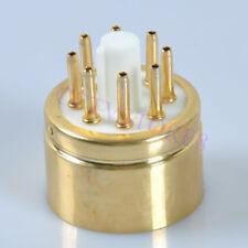 1pc Ceramic Gold Tube Base Socket  8pin For 6N8P 6SN7 Audio Valve DIY Adapter