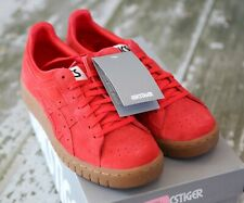 NEW ASICS TIGER Red Suede Leather Gum SOLE GEL-PTG Sneakers Shoes 7 7.5 NWB