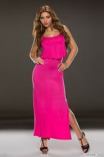 Party Club Formal Wear Modern Stylish Maxi Dress UK size 10-12 - Pink