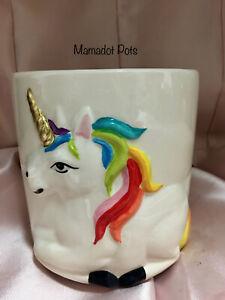 Unicorn Ceramic Planter Pot 2 Styles