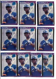 LOT OF (10) KEN GRIFFEY JR 1989 DONRUSS #33 RATED ROOKIE RC  FC7270