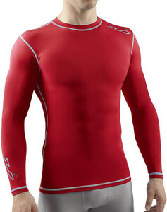 Sub Sports Dual Compression Mens Long Sleeve Top - Red