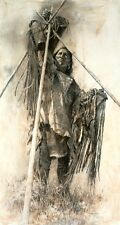 Howard Terpning GUARDING THE LODGE paper giclee ARTIST PROOF A/P #14/20