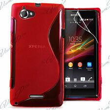 Accessories Cover Case Silicone Gel TPU S Red sony Xperia L
