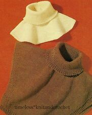 VINTAGE KNITTING PATTERN FOR WARM & COSY WIND CHEATERS / POLO NECK INSERTS