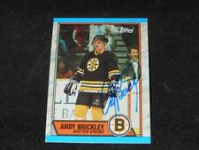 Boston Bruins Andy Brickley Signed 1989/90 Topps Card #29  TOUGH  SR