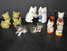 5 VINTAGE SETS OF CATS SALT AND PEPPER SHAKERS 5640E