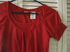 """LADIES """"NO BOUNDARIES"""" SHORT SLEEVE TOP, RED, SIZE SMALL (3-5)"""