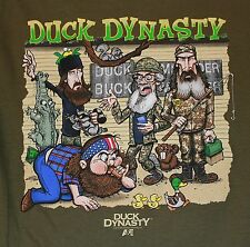 Duck Dynasty Women's 100% Cotton S Graphic Tee Green Short Sleeve Tultex