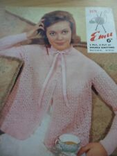 VINTAGE 1960'S EMU 3 / 4 PLY DK KNITTING PATTERN LADIES BED JACKET 32 - 40 in